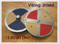 Relentlessly Fun, Deceptively Educational: Viking Shield [upcycled history craft] Sonlight Core A week 5