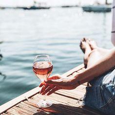 rosé on the dock @je