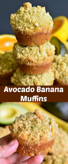 Recipes Breakfast Avocado Avocado Banana Muffins with Orange Streusel. Soft, comforting banana muffins made with an addition of avocado, orange essence, and topped with sweet, orange flavored streusel. Avocado Dessert, Avacado Breakfast, Vegetarian Breakfast, Avocado Toast, Avocado Bread, Avocado Egg, Brunch Recipes, Breakfast Recipes, Breakfast Ideas
