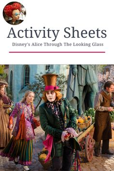 alice through the looking glass activity sheets, alice through the looking glass crafts Free Activities, Activity Sheets, Through The Looking Glass, Fun Projects, Law Of Attraction, Alice In Wonderland, Arts And Crafts, Mondays, Disney
