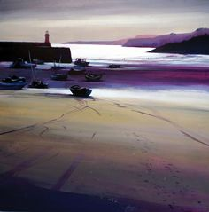 St Ives Harbour - acrylic painting on canvas by David Williams. Available from www.southdownsgallery.co.uk