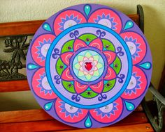 mandalas om - Buscar con Google Mandalas Painting, Mandalas Drawing, Dot Painting, Painting On Wood, Mandala Dots, Mandala Design, Painted Rocks, Hand Painted, Mandala Art Lesson