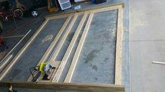 Diy panel saw Garage Tools, Garage Shop, Garage Ideas, Lumber Storage, Wood Storage, Sierra Vertical, Panel Saw, Shop Cabinets, Workshop Ideas