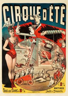 Vintage French rabbit circus poster.  Who knew?
