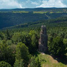 Lookout Tower, Czech Republic, Mountains, Landscape, Plants, Travel, Beautiful, Towers, Scenery