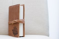 Leather magnolia notebook. perfect for the writer. great gift idea. order online from tre bella.