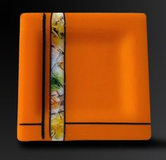 Outstanding Orange Magma 8x8 Plate by kristysly on Etsy, $60.00