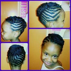 Natural hair style for kids. Styles by shawn. Hair by Alicia.