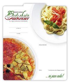 Gutschein für italienisches Restaurant  #Gutschein #Restaurant #Italiener #Essen #Italienisch #Italy #Italien #Pizza #Pasta #G204 Pizzeria, Spaghetti, Pasta, Ethnic Recipes, Food, Arch, Fine Dining, Italian Restaurants, Italian Man