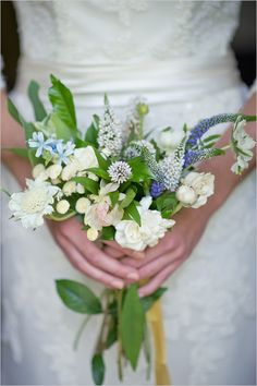 wildflower wedding bouquet; simple enough to make. wrap stems with burlap or satin and secure with a rhinestone pin