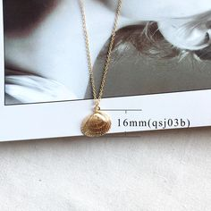 Gold Color Alloy Cowrie Shell Necklace for Women - Love's Jewelry Summer Necklace, Long Chain Necklace, Summer Jewelry, Necklace Types, Cowrie Shell Necklace, Starfish Necklace, Shell Necklaces, Shell Pendant, Gold Fashion