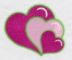 Accuquilt Go! Heart Single 2 - 5x7 | Quilt | Machine Embroidery Designs | SWAKembroidery.com VStitchDesigns