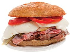 Brazil's Bauru is made by smothering roast beef with melted mozzarella and tomato.