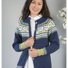 Megan jakke - Viking of Norway Feminine Style, Knitting Projects, No Frills, Collars, Cardigans, Sweaters, Fair Isles, Stitch, Norway