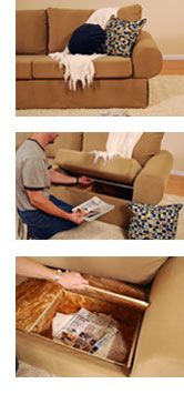 Couch with built-in storage (for blankets, pillows, etc!)