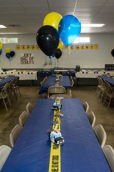 Police Retirement Party, Retirement Party Decorations, Boy Birthday Parties, 5th Birthday, Birthday Ideas, Cop Party, Kids Police, Police Academy, Cops