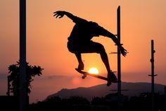 sunset skaterboard