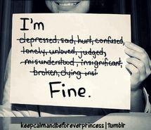 crying, despressed, fake smile, hurt - inspiring picture on Favim.com