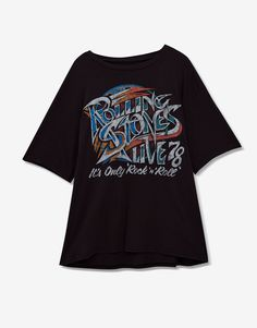 Rolling Stones T-shirt - Best sellers ❤ - Clothing - Woman - PULL&BEAR United Kingdom