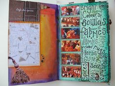 From the Craftster Community: Morocco Travel Journal - PAPER CRAFTS, SCRAPBOOKING & ATCs (ARTIST TRADING CARDS)
