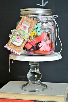 Embellishment jar-perfect for your crafty friend