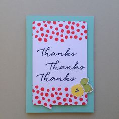 ***SOLD*** Thanks Card