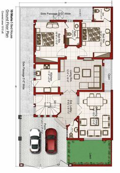 30x50 House Plans, Indian House Plans, Free House Plans, House Layout Plans, Family House Plans, Bungalow Floor Plans, Apartment Floor Plans, House Floor Plans, Home Map Design