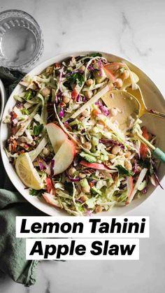 Salad Recipes Vegan, Healthy Coleslaw Recipes, Healthy Spring Recipes, Vegetarian Salad, Vegan Coleslaw, Healthy Salads, Whole Food Recipes, Vegetarian Recipes, Cooking Recipes