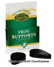 Equi Life TLC Frog Supports Pair Resilient cushioning frog supports Simply bandage to the feet of laminitis and founder cases to provide instant