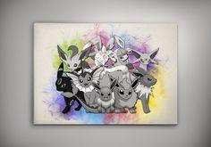 Pokemon Print Eeveelution Pokemon Go Art by Zapalkowo on Etsy