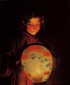 Lantern postcards by Sybil Barham (1877 -1950)