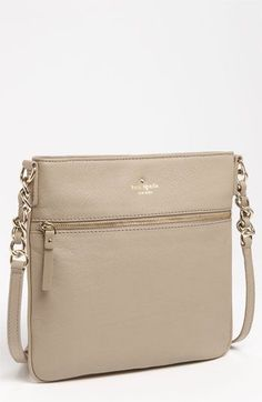 kate spade new york 'cobble hill - ellen' leather crossbody bag available at ~~ been in a desperate need for a cross body for when I'm on-location doing makeup! Kate Spade Handbags, Kate Spade Purse, Chanel Handbags, Purses And Handbags, Chanel Bags, Cute Crossbody Bags, Leather Crossbody Bag, Chanel Clutch, Handbag Accessories