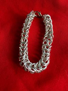 Chainmail box chain in bright silver toned at AllenCreations website at the Square Market.