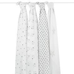 Coffret de quatre langes en mousseline de coton (100%), mesurant 120 cm x 120 cm... #maxilanges #aden&anais #packde4maxilanges #langesbébé #langesaden&anais