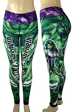 Superhero Leggings Yoga Pants Compression Tights (Many Styles) (Wonder Woman) at Amazon Women's Clothing store