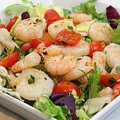 Sałatka z krewetkami na ciepło Shrimp, Meat, Food, Eten, Meals, Diet