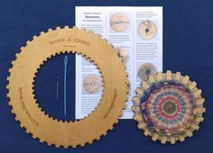 The Weave-a-round Circle Loom kit comes with two sizes of precision laser-cut looms along with directions and weaving needles -- just add yarn! The