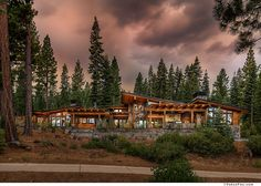 Mountain home provides a serene living environment in Martis Camp – rustic home exterior Mountain Home Exterior, Modern Mountain Home, Mountain Homes, Mountain Cabins, Custom Home Builders, Custom Homes, Rustic Houses Exterior, Foxes Photography, Modern Rustic Homes