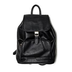 Moss Backpack ($70) ❤ liked on Polyvore featuring bags, backpacks, accessories, modekungen, black, vegan leather bags, backpack bags, daypack bag, faux leather backpack and knapsack bag