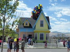 """the """"Up"""" house in real life! it's in Utah!"""
