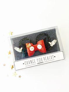 Mickey Mouse Bow Hair Clip - Mickey Mouse ears hair clip, Disney inspired hair bow, MickeyMouse glitter bow