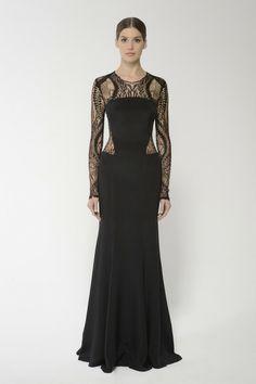 Shop this long sleeve web lace gown and more at moniquelhuillier.com #MoniqueLhuillier
