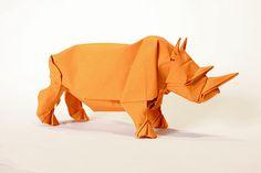 Rhinoceros origami by Sipho Mabona