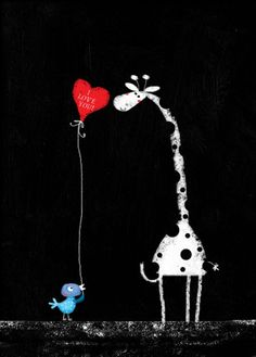 Ivana G Kuman - Valentine, Bird, Giraffe