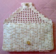 Crochet : Portfolio Pearl - Beautiful and Classic! Crochet Diagram, Free Crochet, Knit Crochet, Crochet Handbags, Crochet Purses, Crochet Pouch, Crochet Hooks, Crochet Bag Tutorials, Crochet Patterns