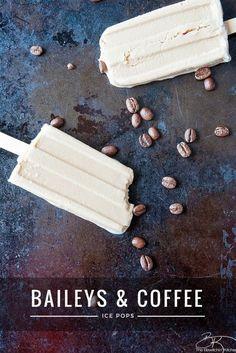 Irish Cream and Coffee Ice Pops. Add this Baileys dessert to your dessert recipes!