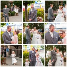 First Look at the Sheraton Bayfront! So love that their flower girl daughters were involved!  © Penny Shaut Photography www.pennyshaut.com