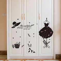 price error - Aulley Evening Dress Wall Stickers For Window Bedroom Staircase Home Decor DIY Dress Art Poster * Visit the image link more details. (This is an affiliate link)
