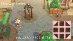 Animal Crossing Qr Codes, Animal Crossing Villagers, Animal Crossing Game, Brick Pathway, Brown Brick, Path Design, Design Ideas, Motifs Animal, Filthy Animal