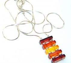 Awesome Polish Amber Sterling Silver necklace